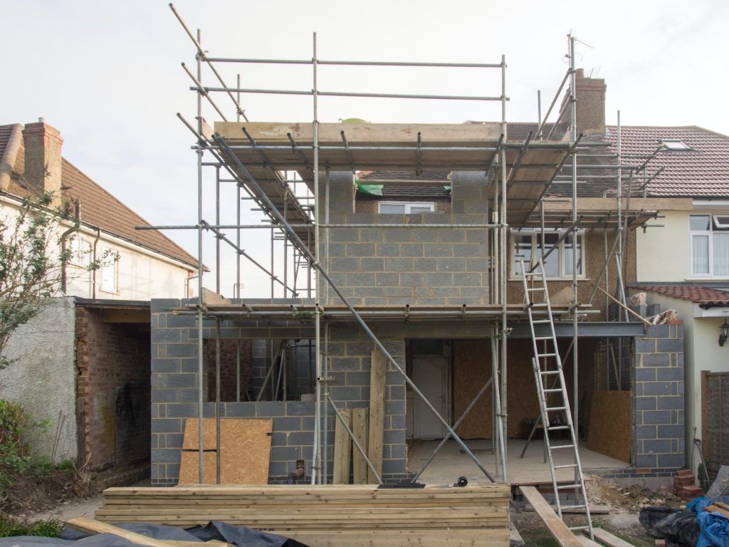 House extension building with planning permission